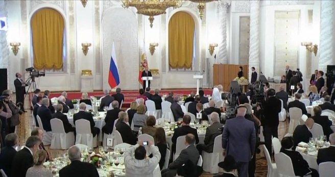 Виктор Затеев и Ирина Тозыякова приняли участие в торжественном приеме президента России Владимира Путина